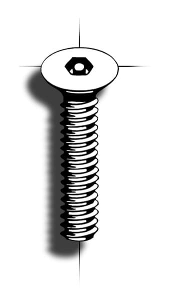 Picture of Machine screw | Hex Pin | flathead