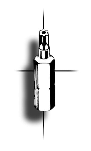 Picture of SecuFast 6-Lobe Pin Bit TX-10