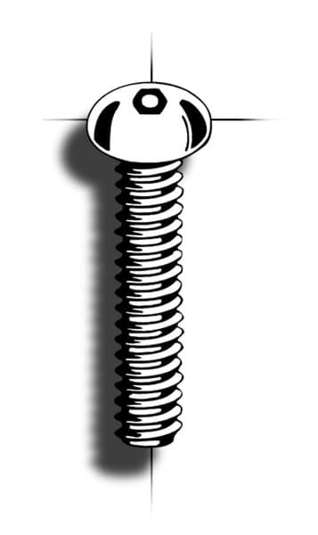 Picture of Machine screw | Hex Pin | buttonhead